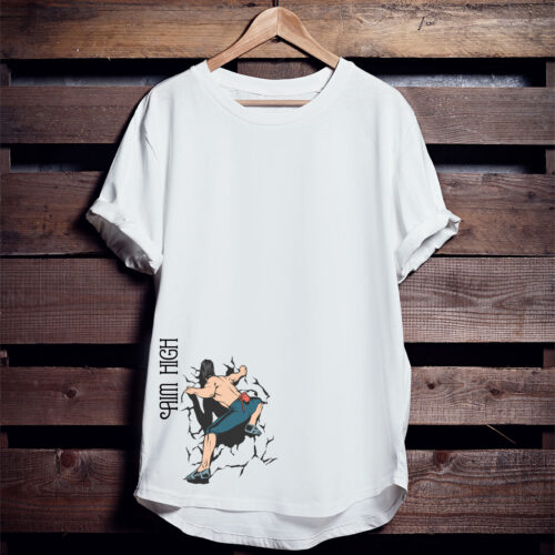 Aim High Graphic Printed T shirt