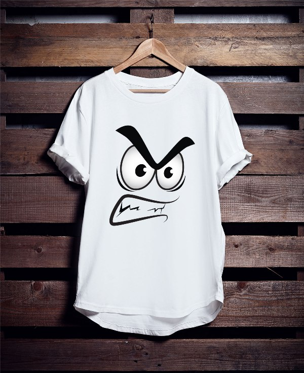 Angry T shirt Graphic Printed