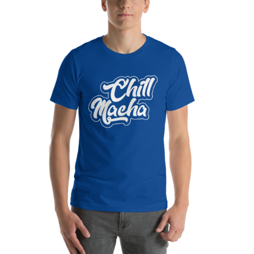 Telugu Trending Graphic Printed Royal Blue T shirt