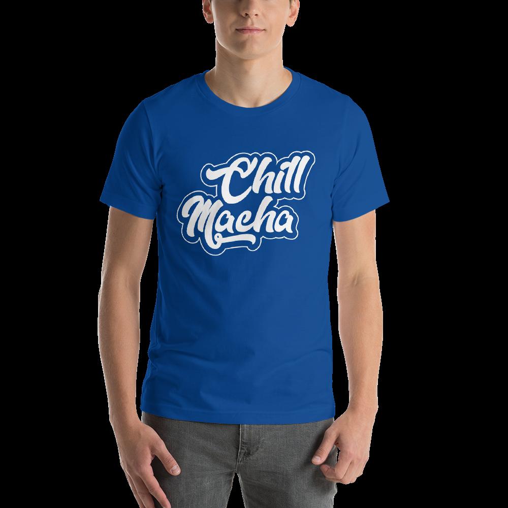 Telugu Trending Graphic Printed Royal Blue T shirt