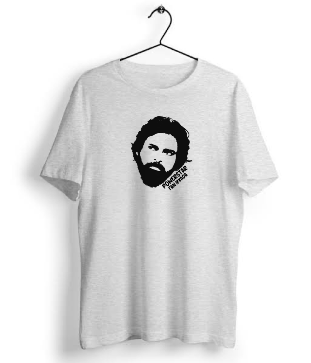 Pawan Kalyan Powerstar Fan Ikkada Graphic Online T shirt