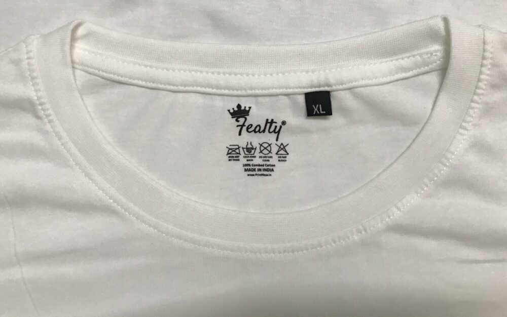 White Color Fealty Brand Outside Lable