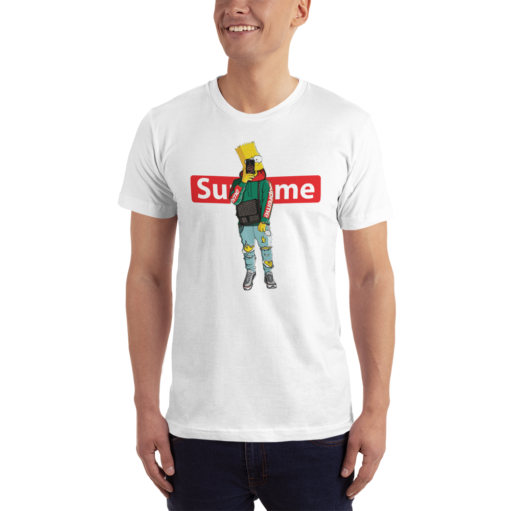 Supreme White Fealty Brand Graphic Printed T shirt
