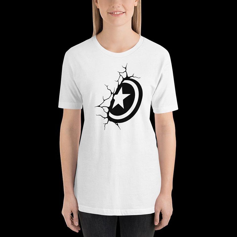 Captain America Shield Print T-shirt