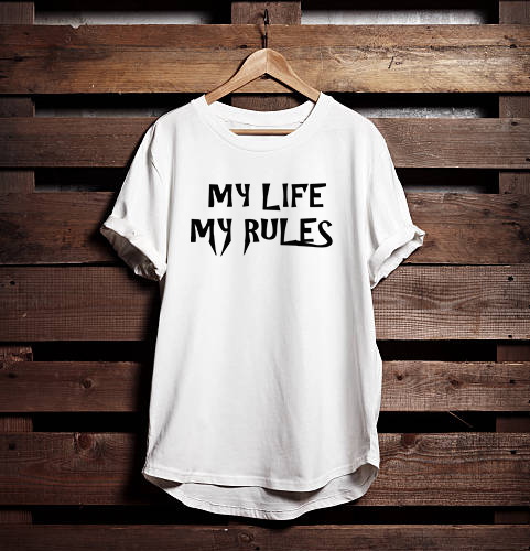 My Life My Rules Graphic Printed T shirt