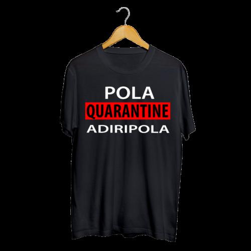 Telugu Trending Pola Quarantine Adiripola Black Color Graphic Printed T shirt