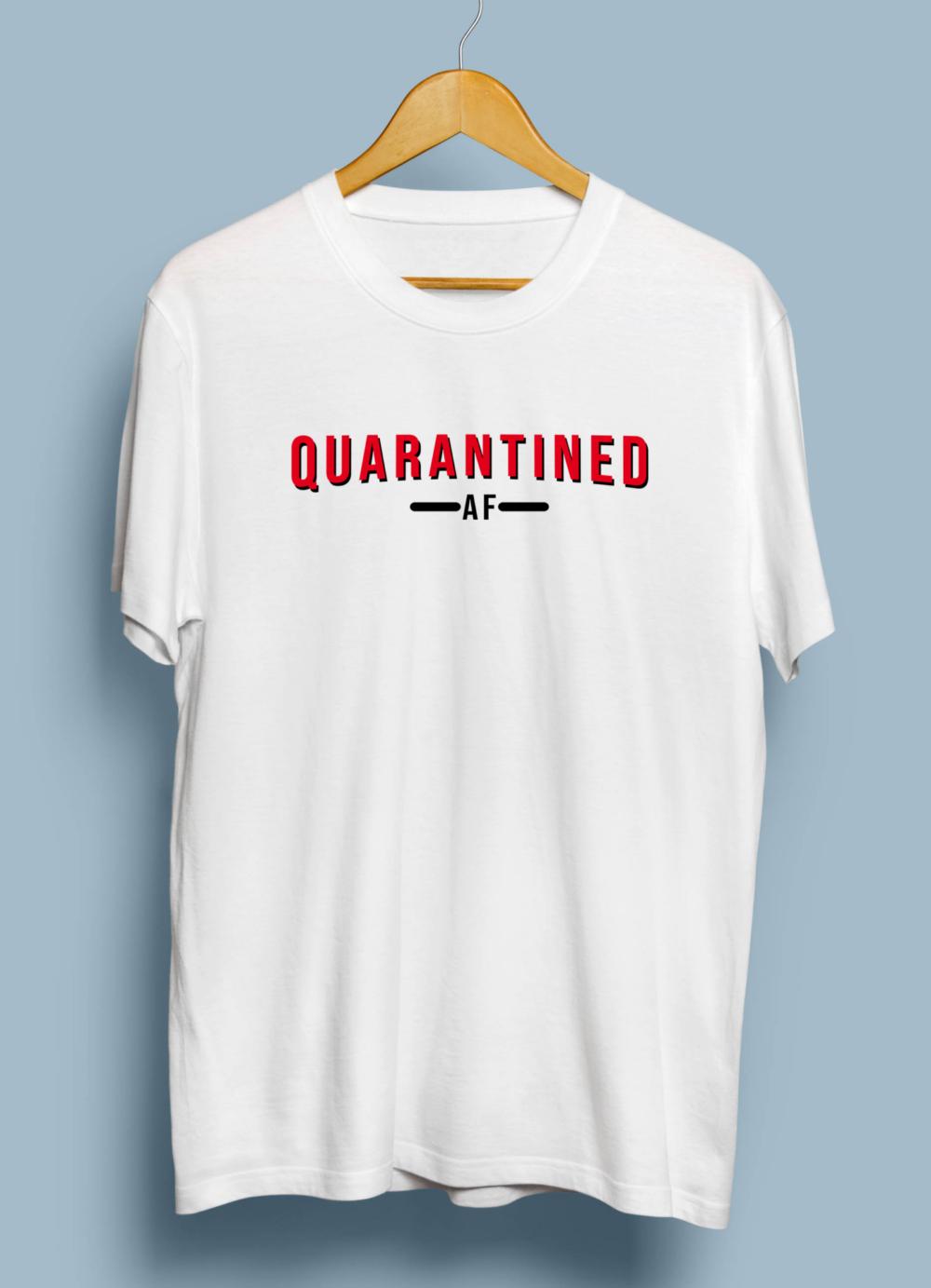 Telugu Trending Quarantined AF Graphic Printed T shirt