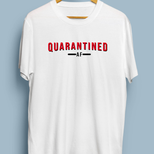 Telugu Trending Quarantined AF Graphic Printed T shirt