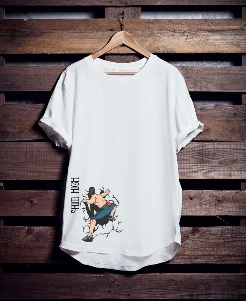 Aim High white T shirt