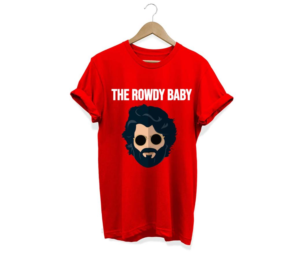 The Rowdy Baby Telugu Graphic unisex T shirt