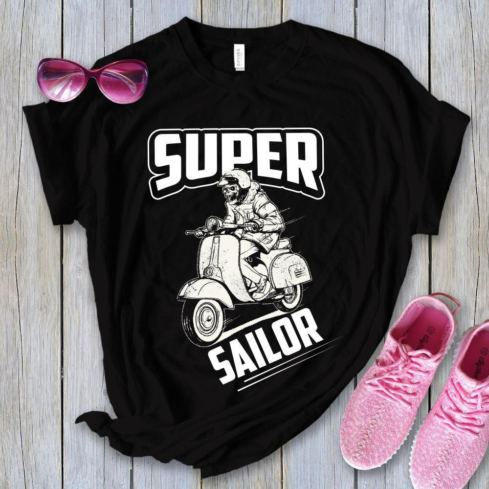 Super Sailor Black T shirt