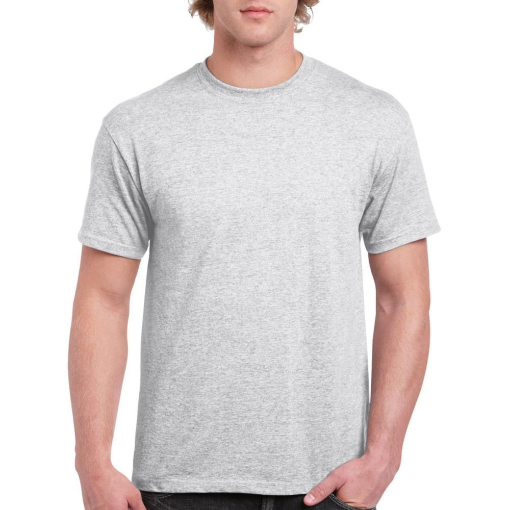 White Melange Solid Plain T shirt