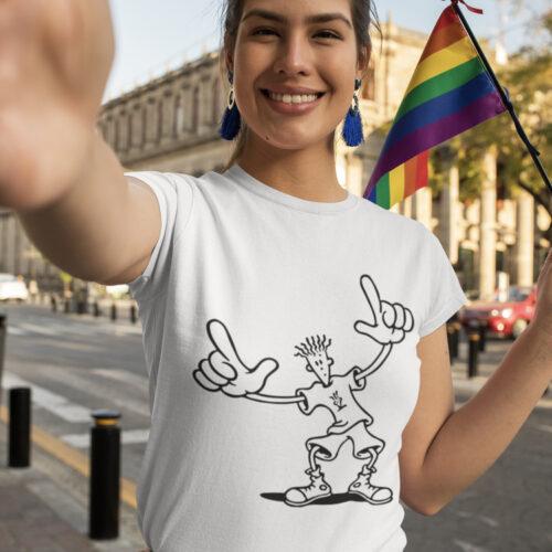 Fido Dido Graphic Solid Plain T shirt