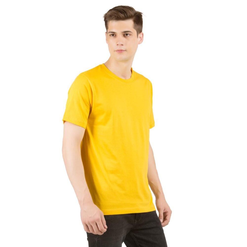 Golden Yellow Plain T shirt