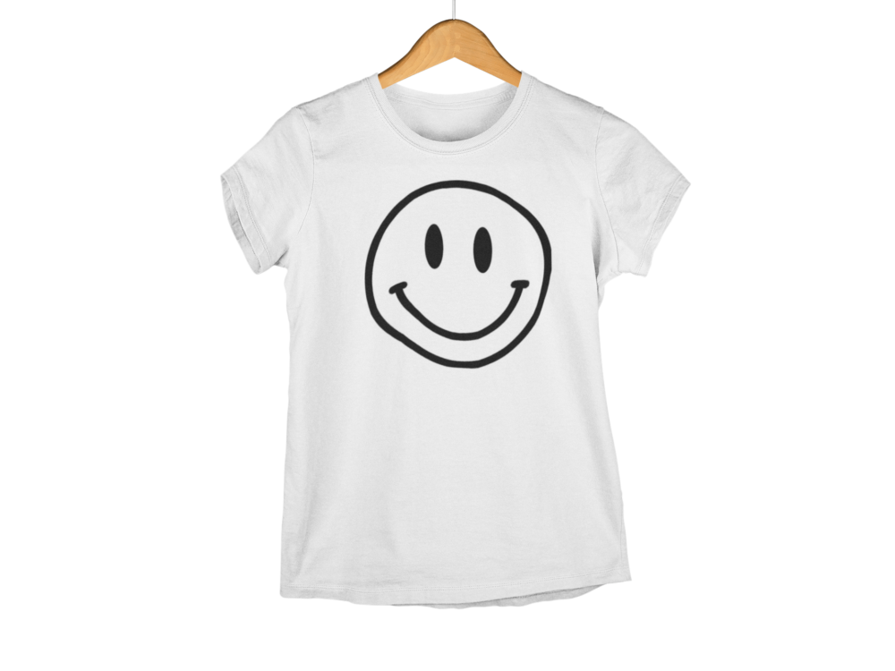 SMILEY FACE WHITE T SHIRT FOR MEN AND WOMEN
