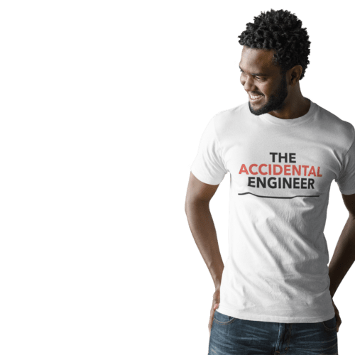Accidental Engineer white T-shirt