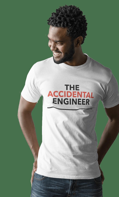 Accidental Engineer white T-shirt