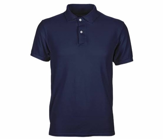 Solid Plain Navy Blue Polo T shirt