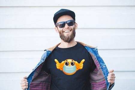 Emoji Mask Men T shirt india