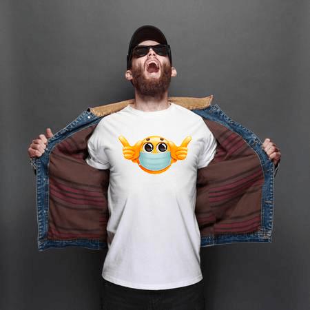 Emoji Mask White T shirt india