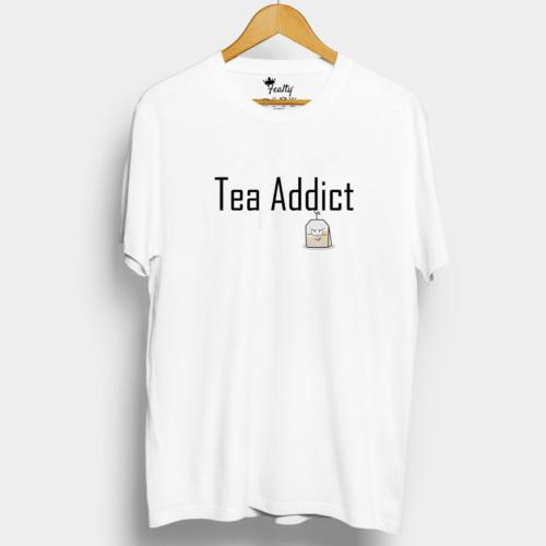 White Tea Addict T shirt