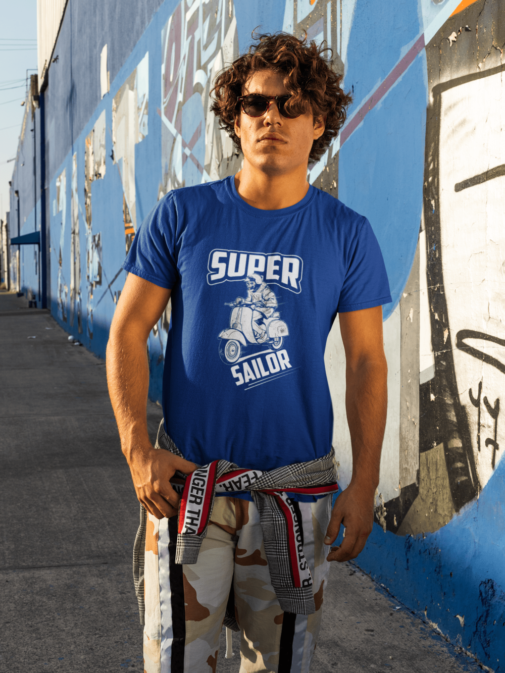 Super Sailor Graphic Printed T shirt