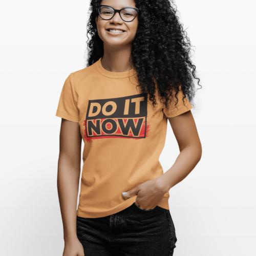 Do it now Mustard Yellow T-shirt